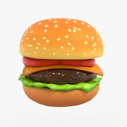 Cheeseburger Cartoon per i giochi 3d model
