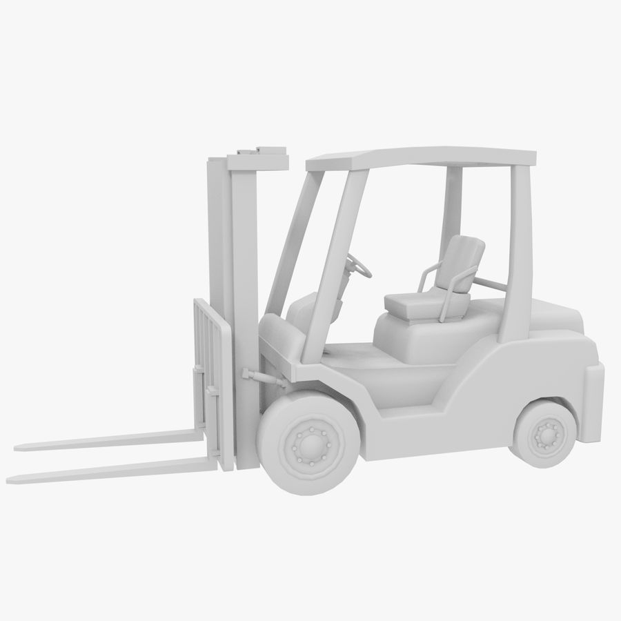Gaffeltruck / lager royalty-free 3d model - Preview no. 4