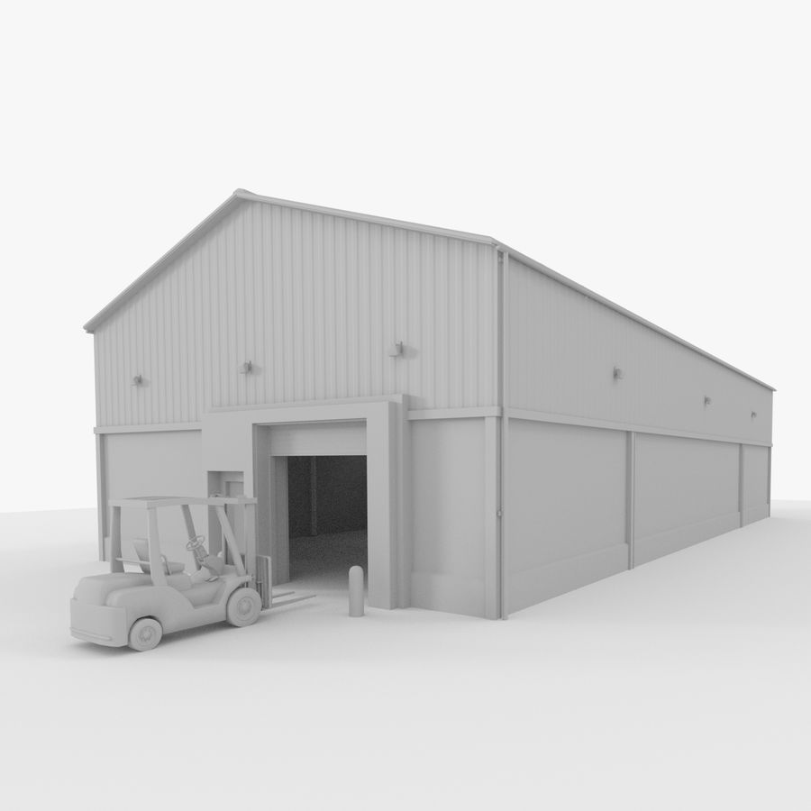 Gaffeltruck / lager royalty-free 3d model - Preview no. 1