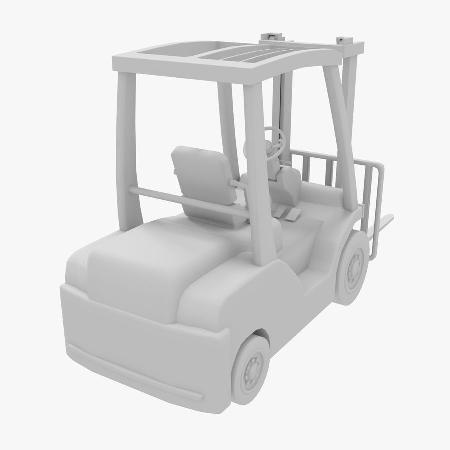 Gaffeltruck / lager royalty-free 3d model - Preview no. 6