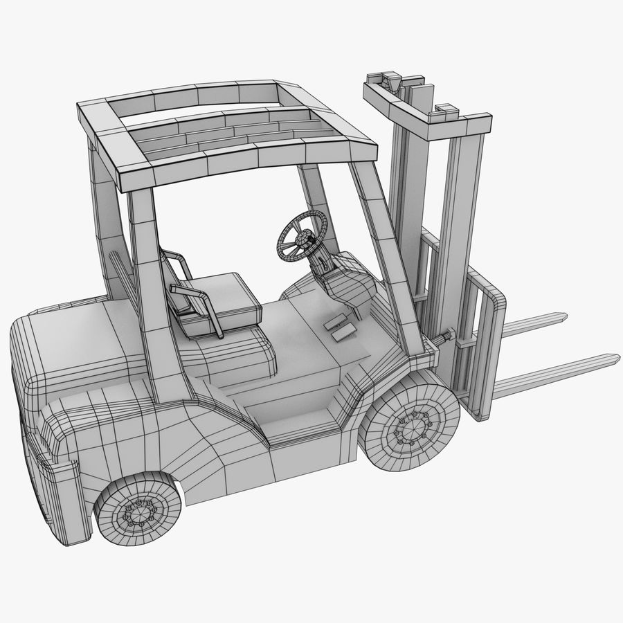 Gaffeltruck / lager royalty-free 3d model - Preview no. 9