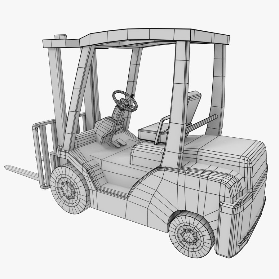 Gaffeltruck / lager royalty-free 3d model - Preview no. 7