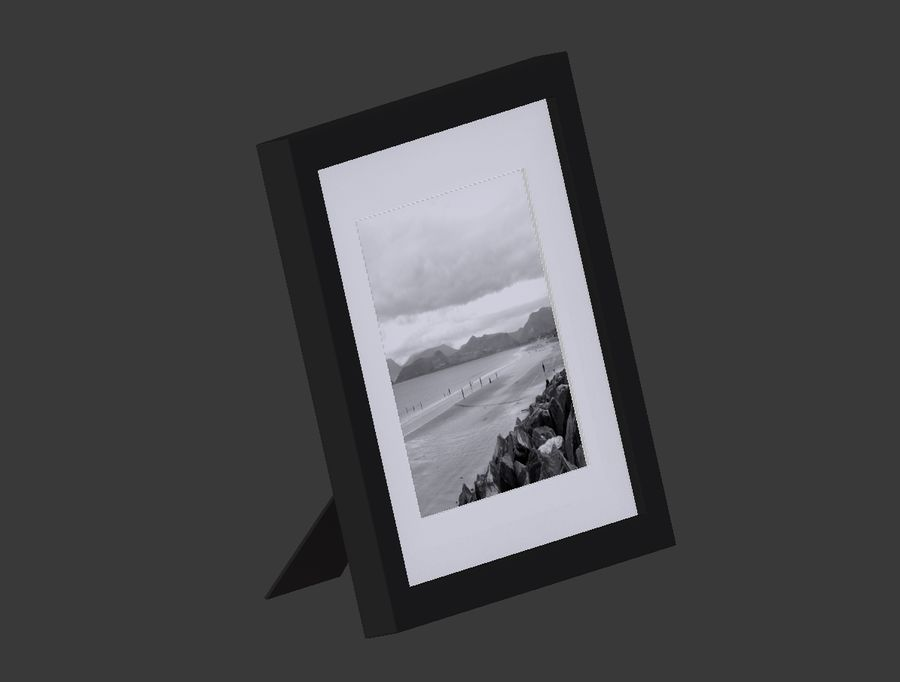Modern Picture Frame - Seaside Photo royalty-free 3d model - Preview no. 5