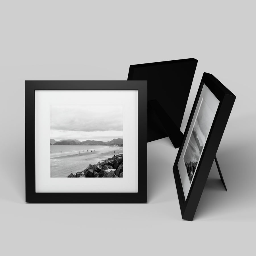 Modern Picture Frame - Seaside Photo royalty-free 3d model - Preview no. 1