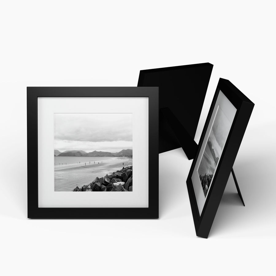 Modern Picture Frame - Seaside Photo royalty-free 3d model - Preview no. 3