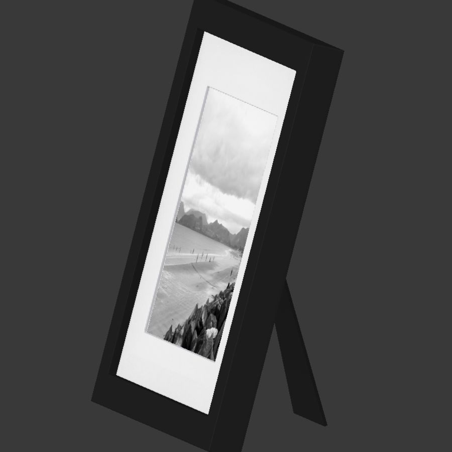 Modern Picture Frame - Seaside Photo royalty-free 3d model - Preview no. 4