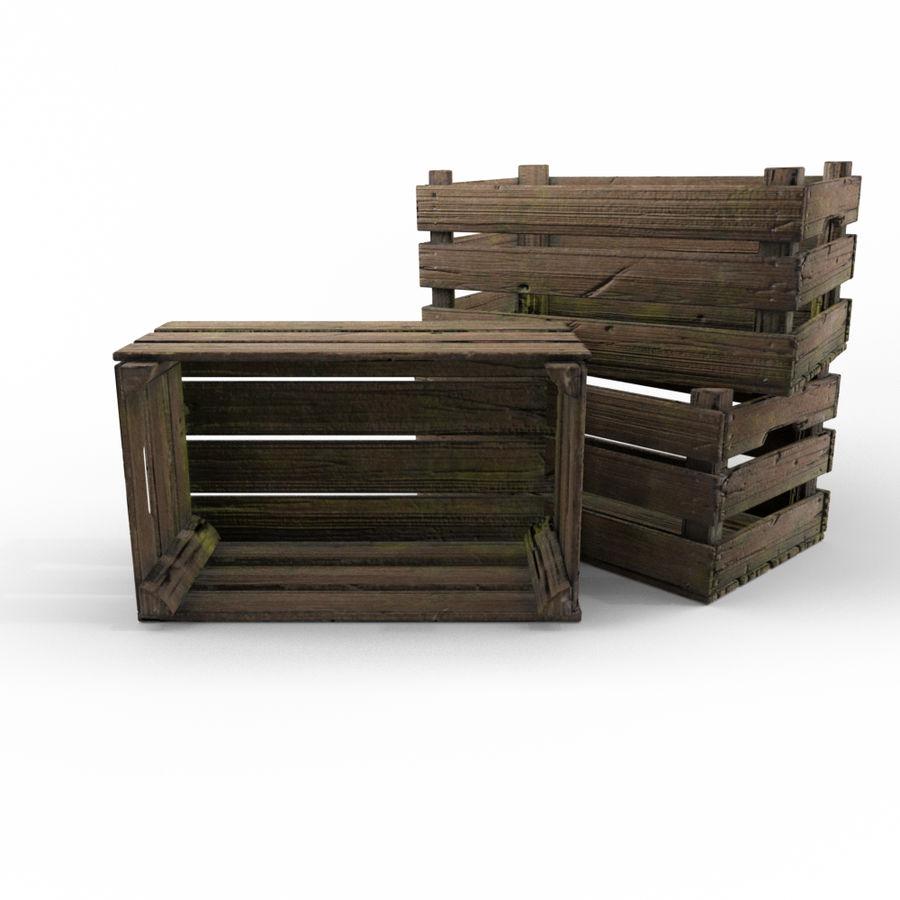 Caixote de madeira royalty-free 3d model - Preview no. 1