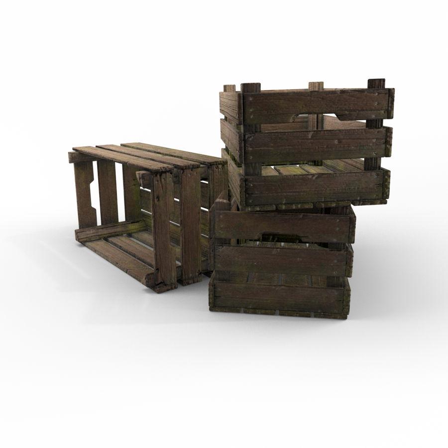 Caixote de madeira royalty-free 3d model - Preview no. 5