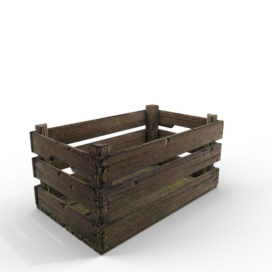 Caixote de madeira royalty-free 3d model - Preview no. 3