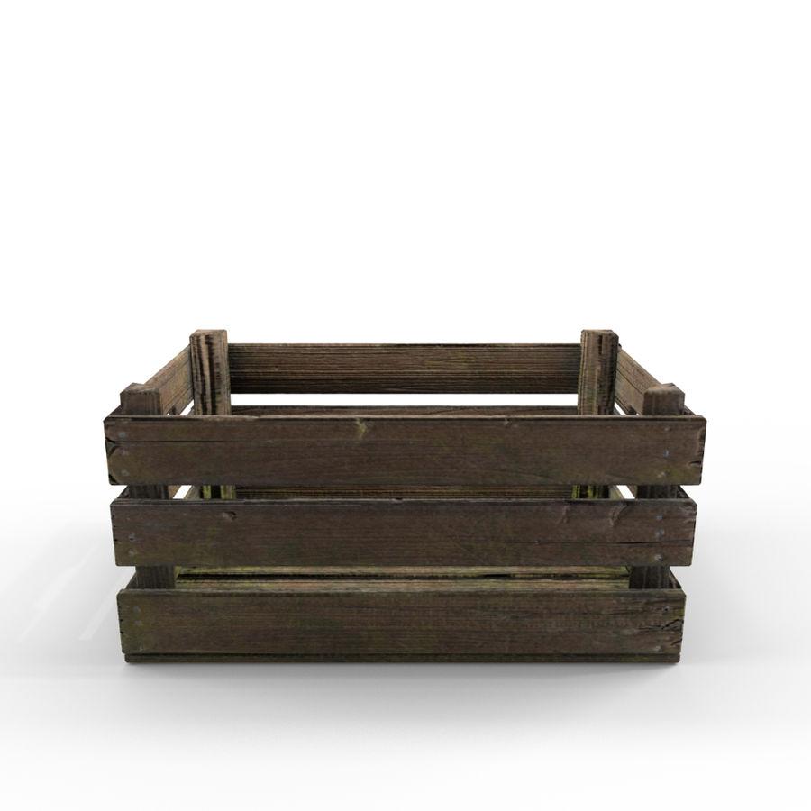Caixote de madeira royalty-free 3d model - Preview no. 2