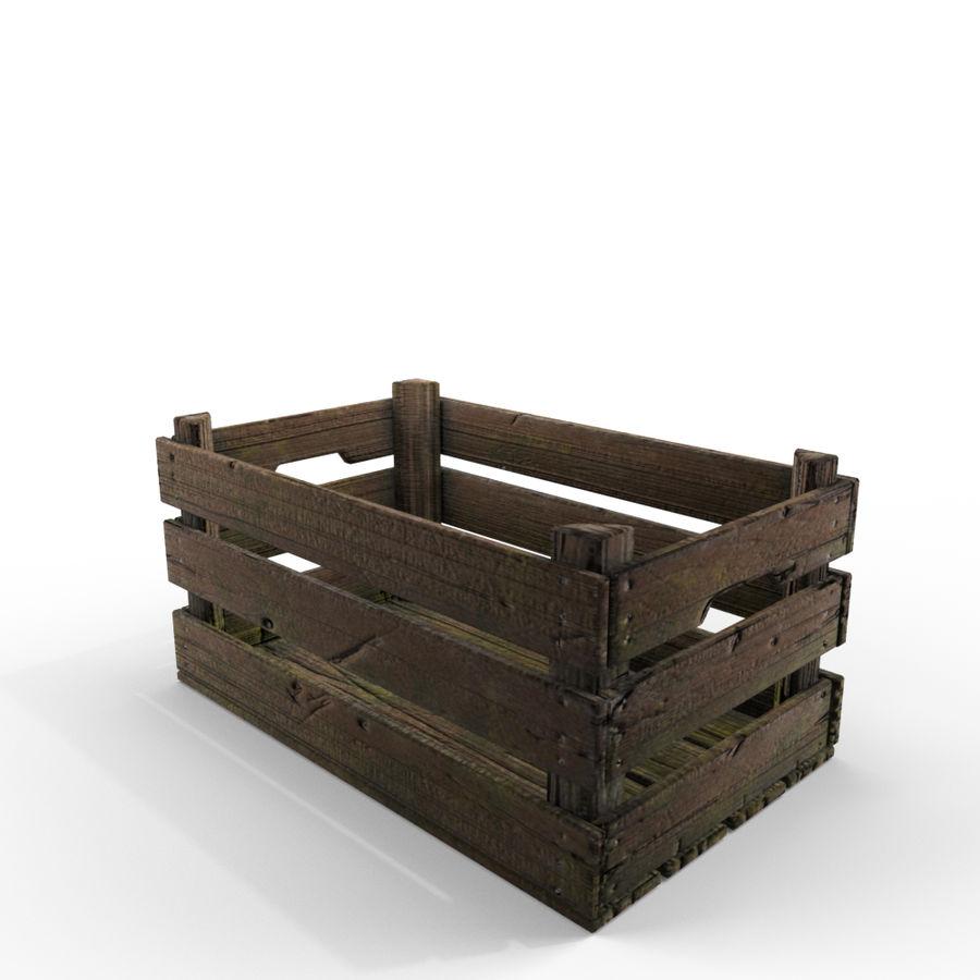 Caixote de madeira royalty-free 3d model - Preview no. 4