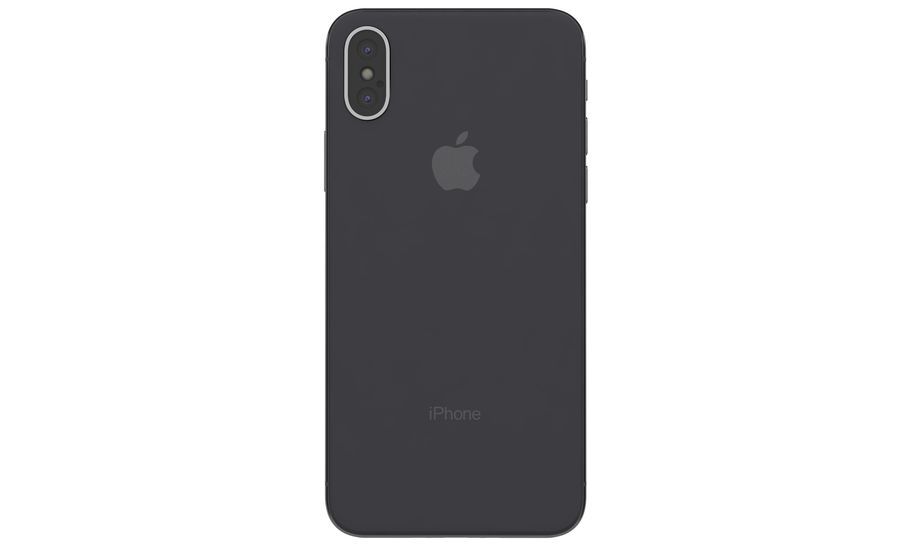 Apple iPhone X Space Gray royalty-free 3d model - Preview no. 10