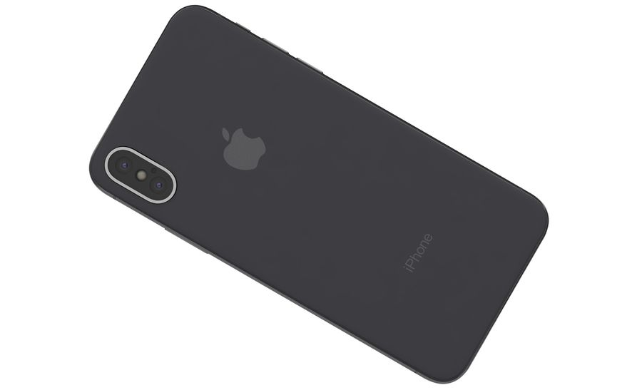 Apple iPhone X Space Gray royalty-free 3d model - Preview no. 13