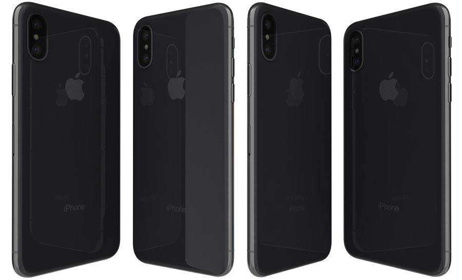 Apple iPhone X Space Gray royalty-free 3d model - Preview no. 3