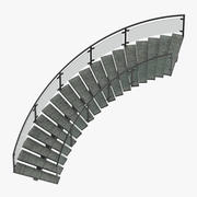 Commercial Staircase Curved 3d model