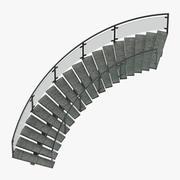 상업용 계단 곡선 3d model