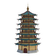 China Tower Tex 3d model