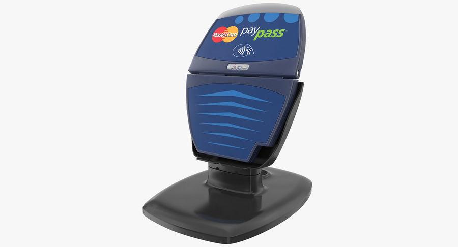 非接触式信用卡读卡器和支架 royalty-free 3d model - Preview no. 2