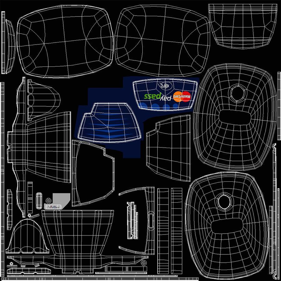 非接触式信用卡读卡器和支架 royalty-free 3d model - Preview no. 11