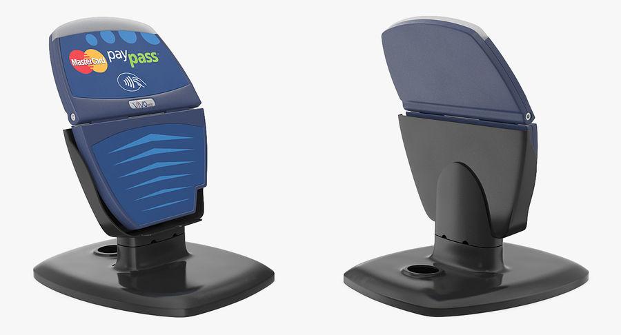 非接触式信用卡读卡器和支架 royalty-free 3d model - Preview no. 4