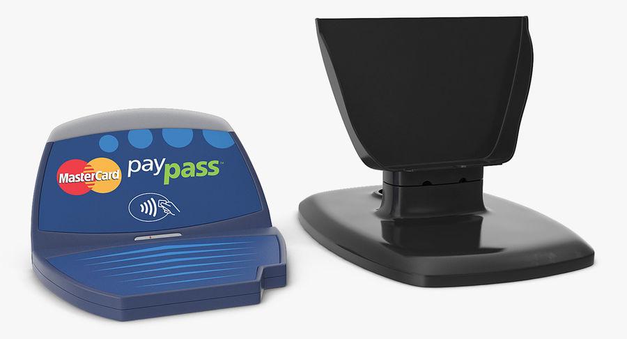 非接触式信用卡读卡器和支架 royalty-free 3d model - Preview no. 5