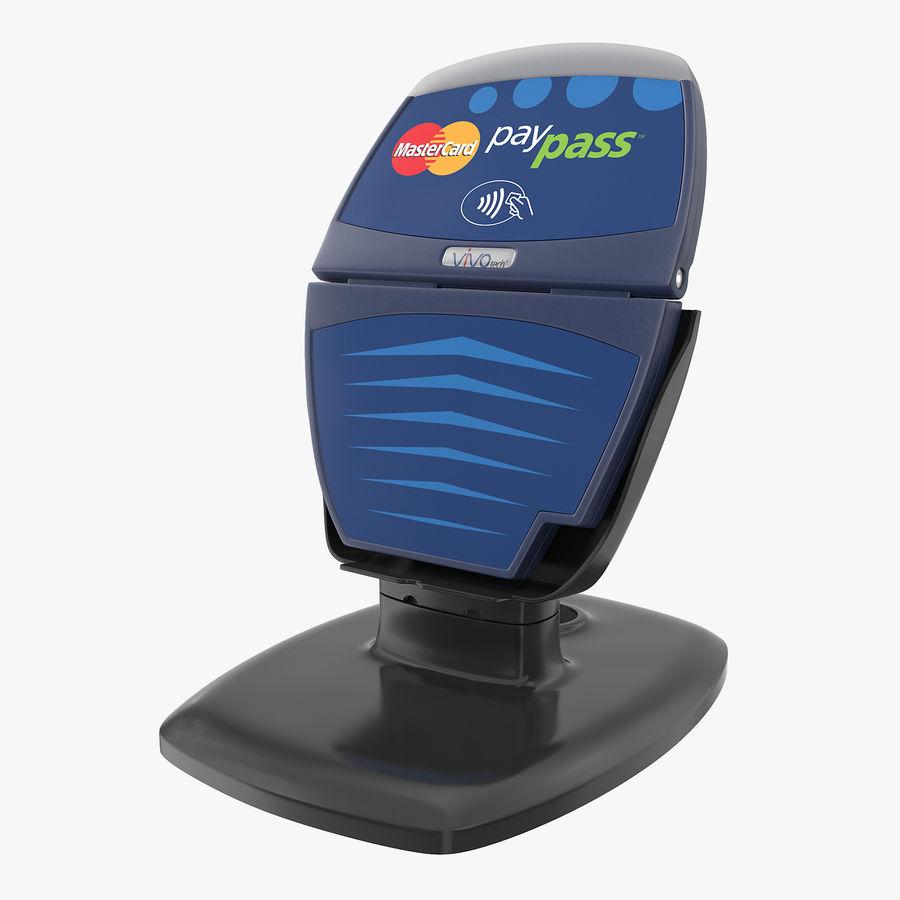 非接触式信用卡读卡器和支架 royalty-free 3d model - Preview no. 1