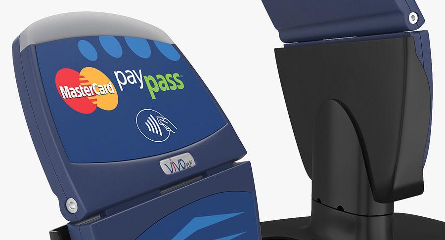 非接触式信用卡读卡器和支架 royalty-free 3d model - Preview no. 8