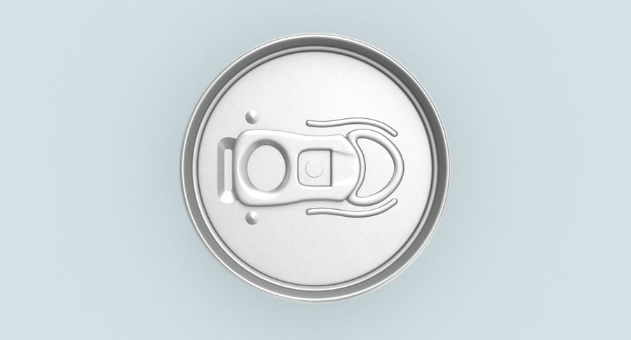 250ml Soda Can Mockup royalty-free 3d model - Preview no. 5
