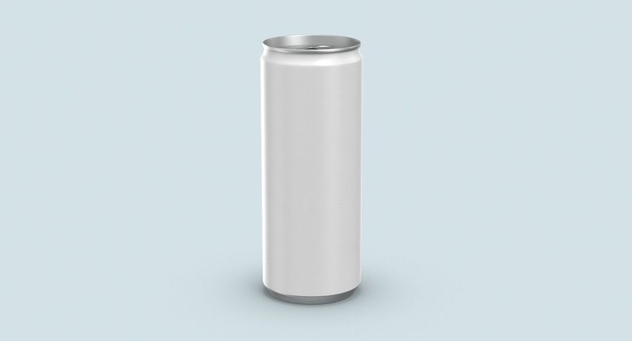 250ml Soda Can Mockup royalty-free 3d model - Preview no. 6