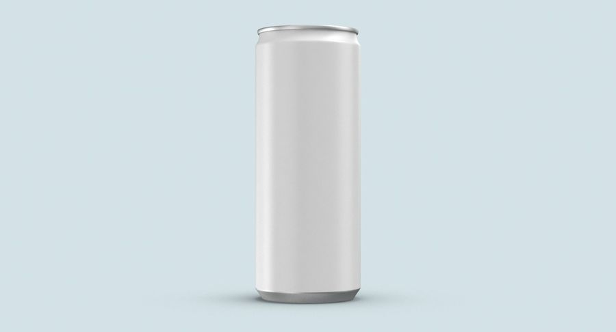 250ml Soda Can Mockup royalty-free 3d model - Preview no. 8