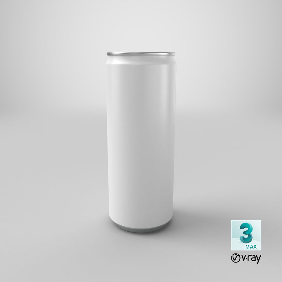 250ml Soda Can Mockup royalty-free 3d model - Preview no. 21