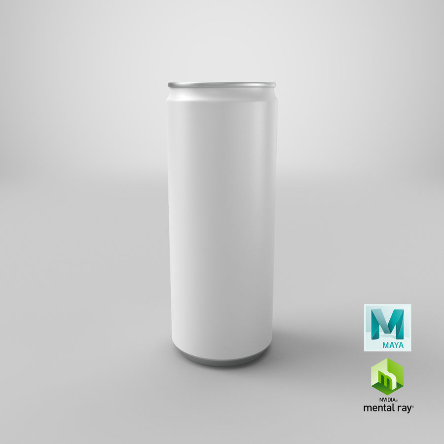 250ml Soda Can Mockup royalty-free 3d model - Preview no. 20
