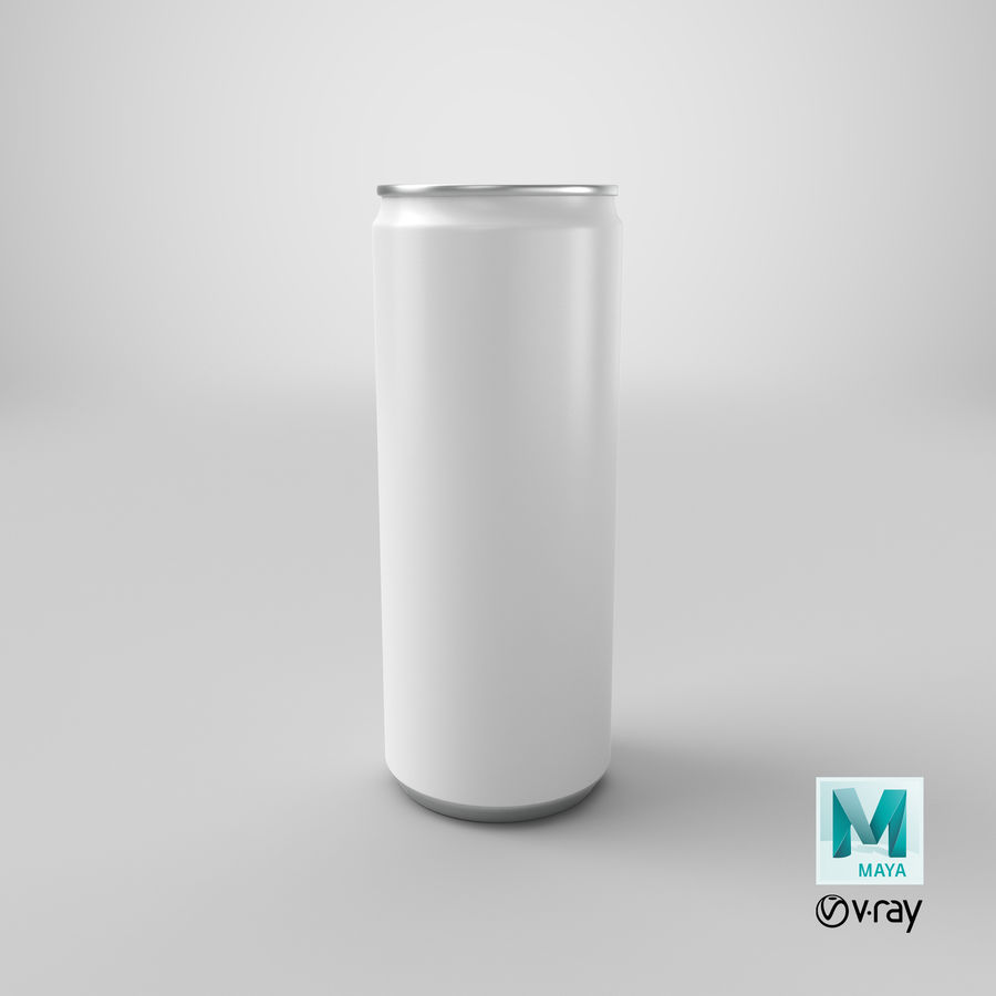 250ml Soda Can Mockup royalty-free 3d model - Preview no. 19
