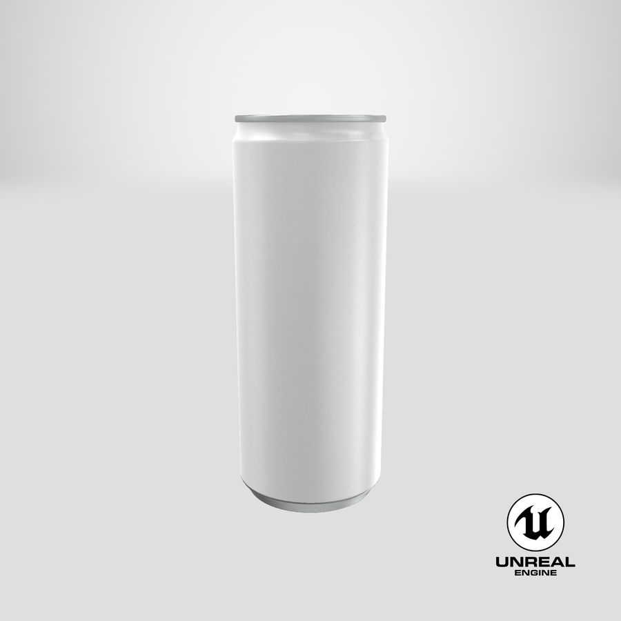 250ml Soda Can Mockup royalty-free 3d model - Preview no. 24