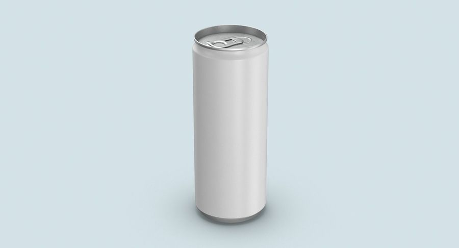 250ml Soda Can Mockup royalty-free 3d model - Preview no. 3