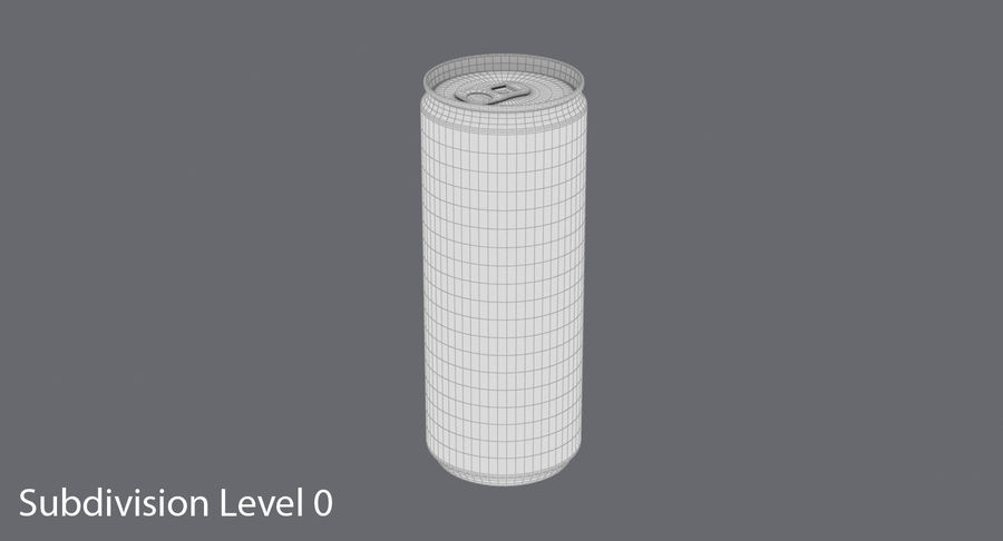 250ml Soda Can Mockup royalty-free 3d model - Preview no. 12
