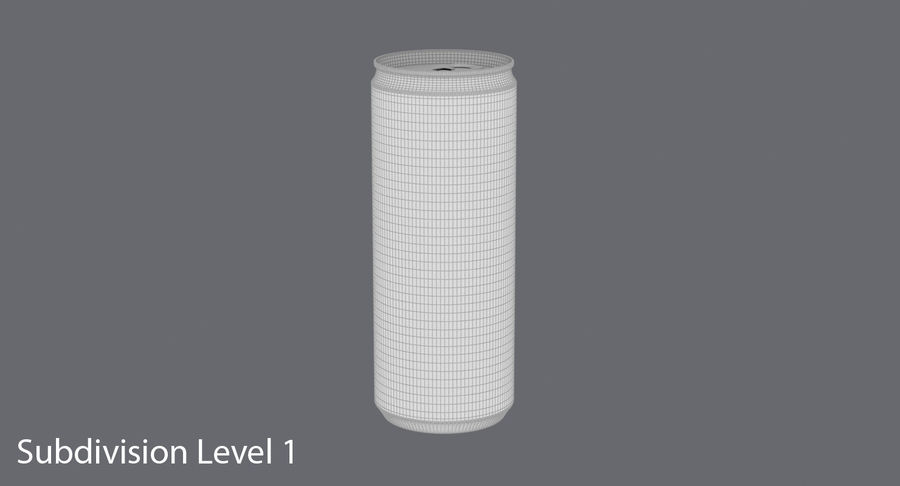 250ml Soda Can Mockup royalty-free 3d model - Preview no. 17