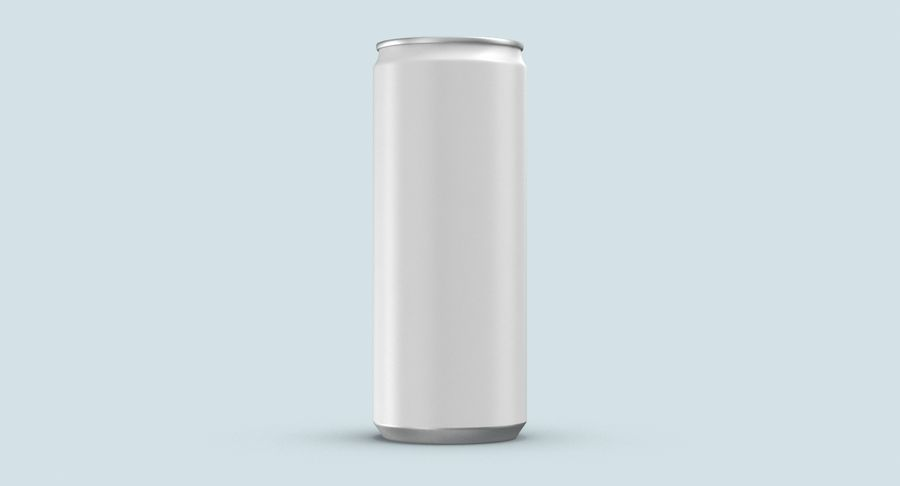 250mlソーダ缶モックアップ royalty-free 3d model - Preview no. 8