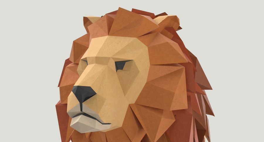 Lion Sitting royalty-free 3d model - Preview no. 10