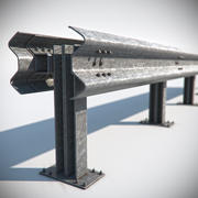 Road Guardrail 3d model