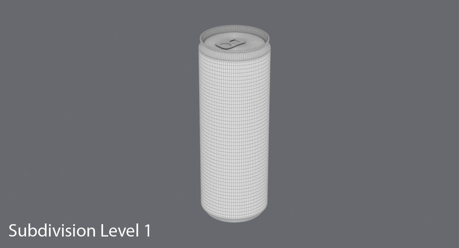 355ml  Soda Can  Mockup royalty-free 3d model - Preview no. 15