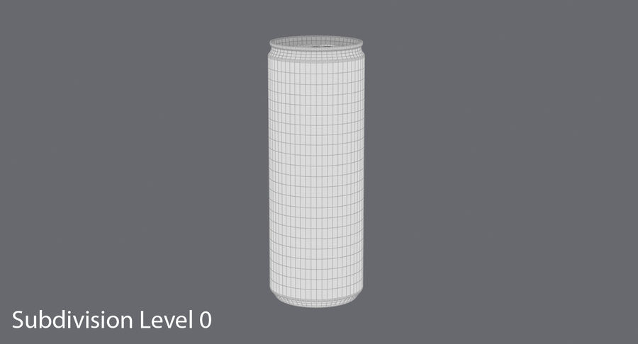 355ml  Soda Can  Mockup royalty-free 3d model - Preview no. 14