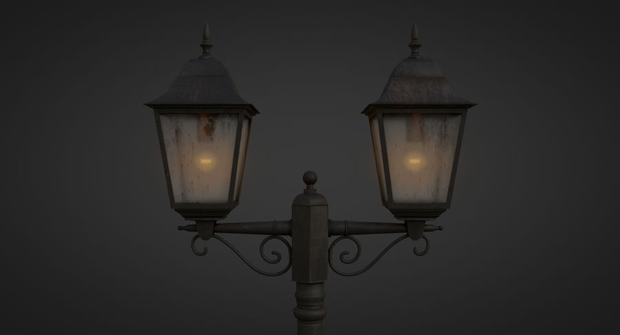 Street Light royalty-free 3d model - Preview no. 10
