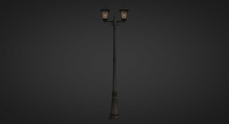 Street Light royalty-free 3d model - Preview no. 9