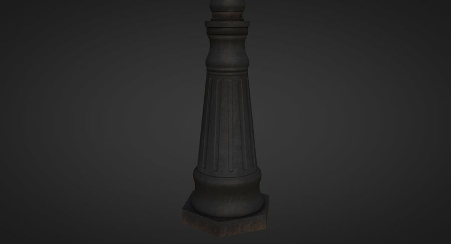 Street Light royalty-free 3d model - Preview no. 4