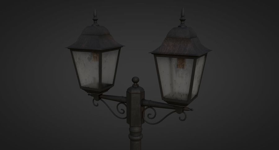 Street Light royalty-free 3d model - Preview no. 6