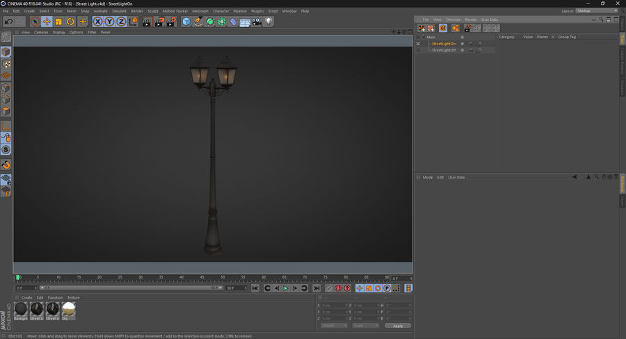 Street Light royalty-free 3d model - Preview no. 21