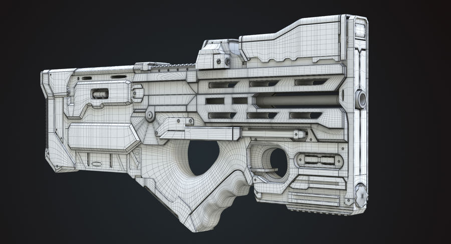Sci-fi Gun royalty-free 3d model - Preview no. 8