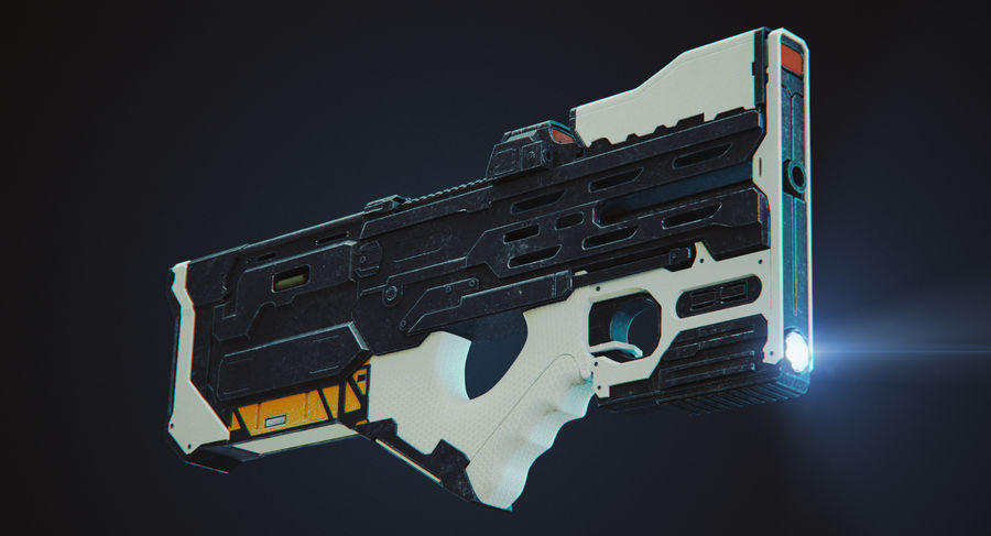 Sci-fi Gun royalty-free 3d model - Preview no. 6