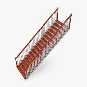Residential Staircase Straight 3d model